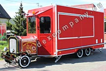 Catering trailer in retro style